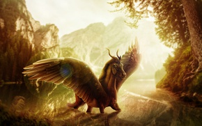 Picture nature, horse, wings, fantasy, by Ladyperfume