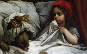 Picture wolf, tale, picture, girl, Little Red Riding Hood, Paul Gustave Dore, Gustave Doré
