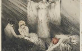 Picture actor, actress, 1928, Louis Icart, Poem