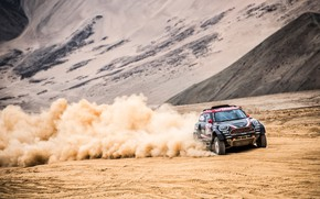 Picture Sand, Mini, Dust, Sport, Desert, Speed, Race, Rally, Dakar, Dakar, SUV, Rally, X-Raid Team, MINI …