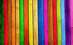 Picture paint, Board, rainbow
