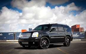 Picture red, with, GMC, Denali, painted, brake, Yukon, calipers