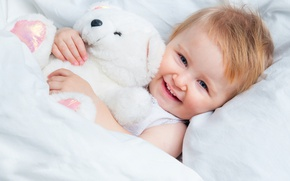 Picture smile, toy, child, baby, bear, girl, bear, Teddy bear, Teddy, Infants