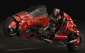 Picture design, robot, motorcycle, bike