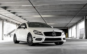 Picture Mercedes, black, with, CLS550, gloss, customized