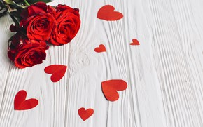 Picture flowers, background, bouquet, hearts, buds, red roses