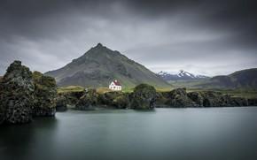 Picture sea, shore, Iceland, Snaefellsnesog Hnappadalssysla
