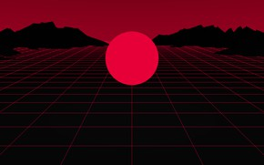 Picture The sun, Red, Music, Neon, Round, Star, Electronic, Synthpop, Darkwave, Synth, Retrowave, Synth-pop, Sinti, Synthwave, …