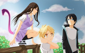 Picture God of war, sky, nothing, anime, cloud, tail, boy, face, God, manga, sugoi, Yato, Noragami, …