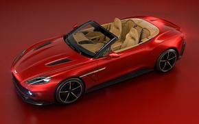 Picture machine, background, Aston Martin, red