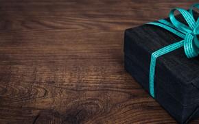 Wallpaper birthday, holiday, box, gift, wood