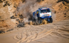 Picture Smoke, Truck, Race, Master, Russia, Kamaz, Rally, Dakar, Dakar, Rally, KAMAZ, The roads, RedBull, Master, …