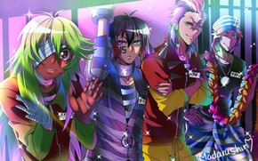 Picture anime, art, guys, Nanbaka, prisoners, Nominatie