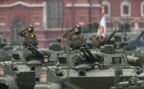 Picture parade, combat, The BMP-3, tracked vehicle, armored