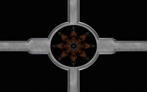 Picture pattern, cross, ornament, symmetry, attack three