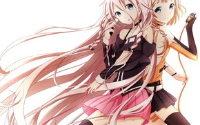 Picture girls, microphone, Vocaloid
