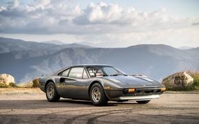 Picture Retro, Grey, Ferrari, Car, GTB, 308, Metallic, Steel Pininfarina, 1976-78