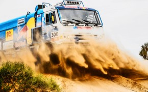 Picture The sky, Sand, Sport, Speed, Truck, Race, Master, Beauty, Russia, Beast, 300, Kamaz, Rally, Rally, ...