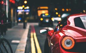 Picture bike, strip, car, Ferrari 458 Italia, Marc Kleen