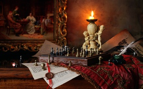Picture candle, picture, chess