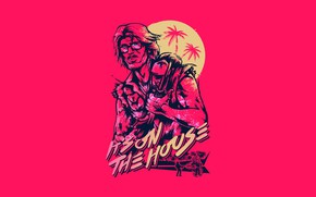Picture The game, Background, Beard, Miami, Character, Beard, Hotline Miami, Synthpop, Darkwave, Synth, Retrowave, Synthwave, Hotline