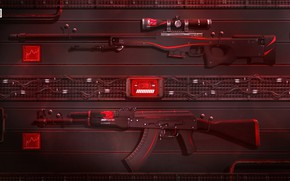 Picture Art, AK-47, Game, Weapons, Sci-Fi, CS:GO, AWP, Redline, Counter Strike:Global Offensive, ibuypower