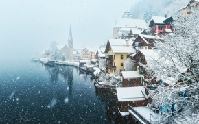Picture winter, snow, the city, Austria, the village
