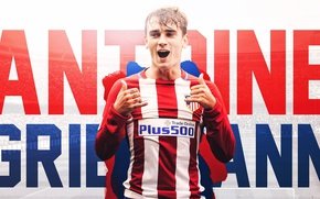 Picture wallpaper, sport, football, player, Atletico Madrid, Antoine Griezmann
