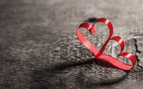 Picture background, hearts, red, Valentine's day, bokeh