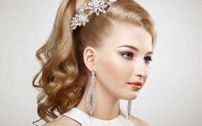 Picture girl, decoration, style, portrait, hairstyle