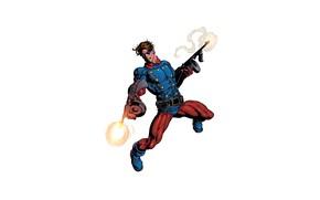Wallpaper costume, superhero, machines, fire