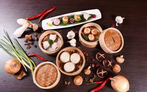 Picture mushrooms, food, Japanese cuisine