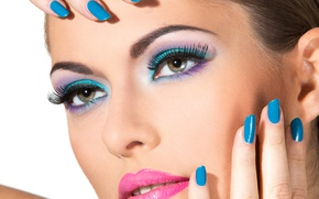 Picture model, lips, nails, make up