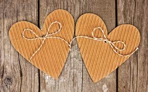 Picture heart, love, cardboard, romantic, hearts, valentine`s day