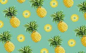 Wallpaper pineapple, vector, food, the fruit