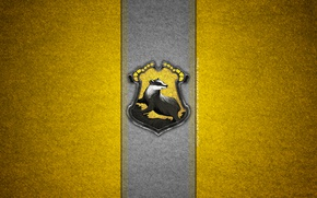 Picture coat of arms, Harry Potter, Hogwarts, badger, DeviantArt, Hufflepuff, Puffenduya, Hogwarts House, badget, by theladyavatar
