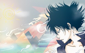 Picture anime, art, guy, Katekyo Hitman REBORN!, Hibari Kyoya