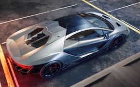 Picture Lamborghini, Supercar, Silver, Italian, Rear, Centennial