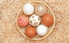 Picture Easter, basket, Easter, eggs, eggs, Holidays