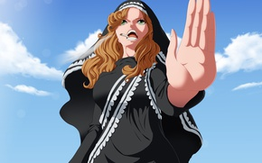 Picture game, One Piece, sky, anime, cloud, cigarette, blonde, hand, manga, japanese, Caramel, kumo, now, Sister ...