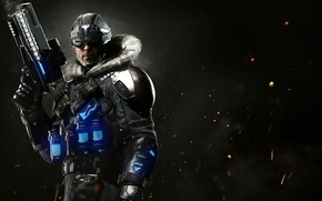 Picture gun, ice, game, weapon, cool, pearls, strong, uniform, seifuku, Captain Cold, Injustice 2