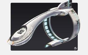 Picture design, aircraft, Warp Ship
