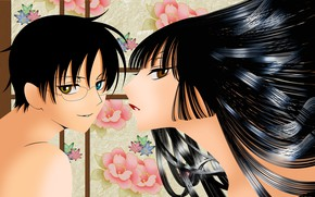 Picture girl, anime, art, guy, two, xxxholic