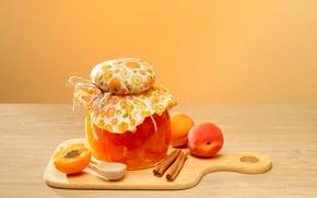 Picture fruit, wood, jam, apricots, apricot