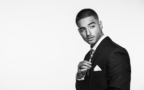Picture Maluma, black and white, male, jacket, Juan Luis Arias