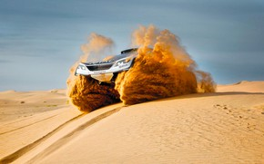Picture Sand, Sport, Speed, Race, Peugeot, Lights, Red Bull, Rally, Rally, Sport, The front, Dune, DKR, …