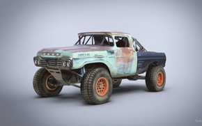 Wallpaper Trophy Rat, car, 1959 Ford F250 stake bed ranch truck