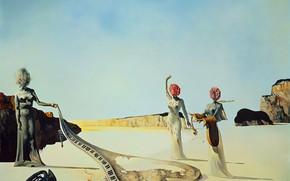 Wallpaper surrealism, picture, Salvador Dali, Salvador Dali, Three Young Surrealist Women