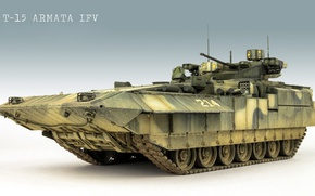 Wallpaper model, infantry fighting vehicle, BMP, Armata, T-15 Armata, T-15