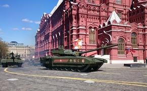 Wallpaper parade, Russian, Armata, T-14, the main tank